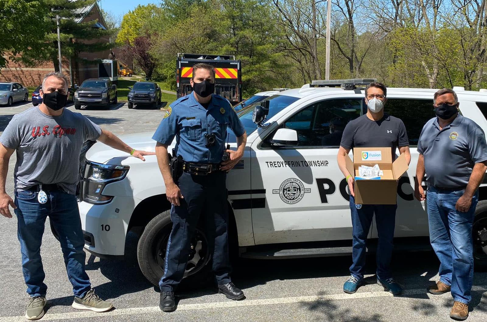 Fusion PPE Donates Protective Masks to Newtown Township Police Department