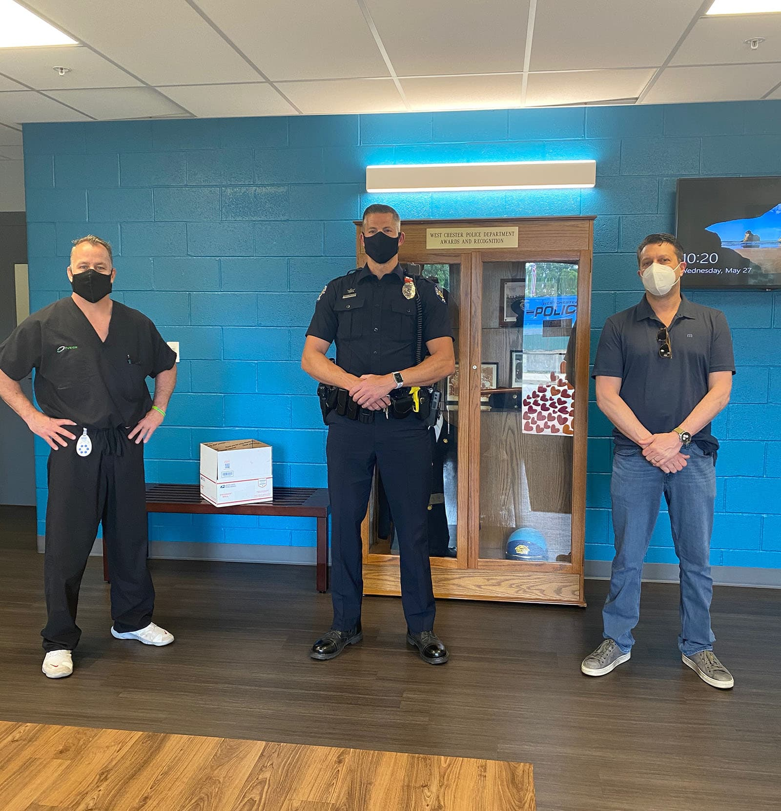 Fusion PPE Gives Masks and Hand Sanitizers to the West Chester, PA