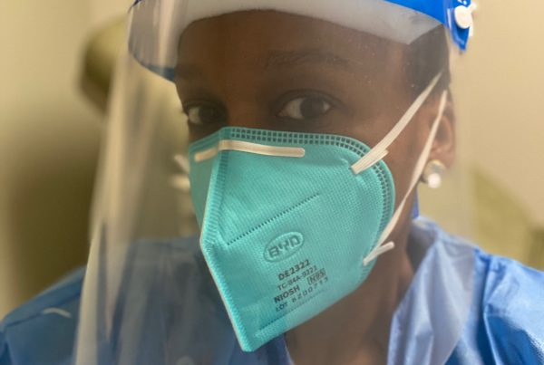 Fusion PPE N95 on Dr.. Janine Darby